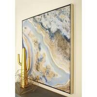Contemporary 40 x 40 Inch Multicolored Marble Canvas Art by Studio 350 - multi