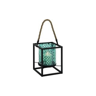 Turquoise Metal Mosaic 8-inches Wide x 19-inches High Lantern