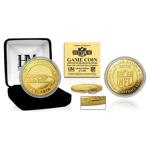 """Seattle Seahawks 2016 Gold Game """"Flip"""" Coin"""