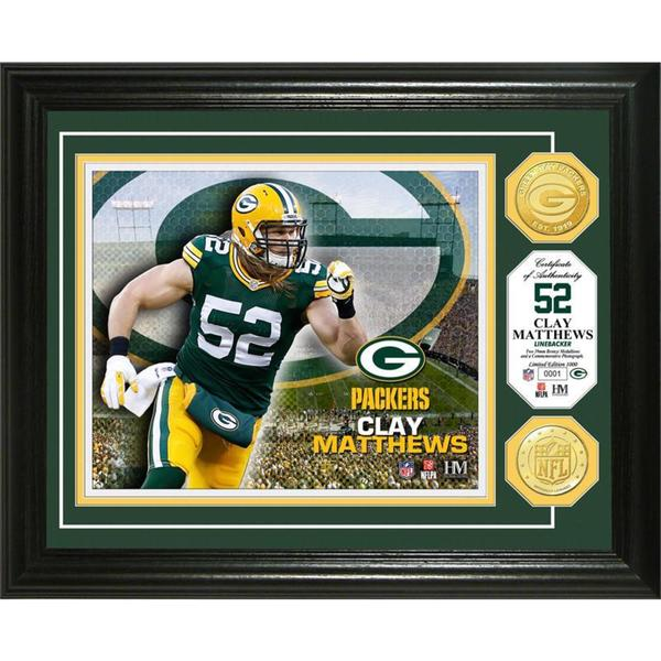 Clay Matthews Bronze Coin Photo Mint