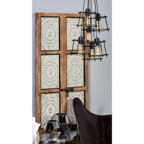 Eclectic 64 Inch Iron 6-Cage Pendant Ceiling Lamp by Studio 350