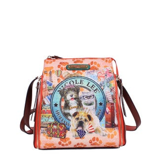 Nicole Lee World Tour Print Faux-leather/Nylon Multifunction Bag