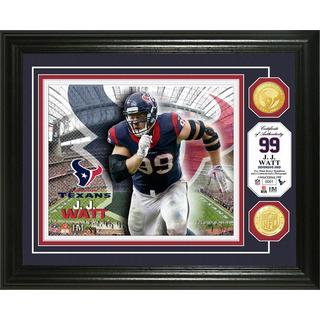 J.J. Watt Bronze Coin Photo Mint