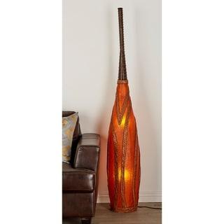 Resin Rattan 71-inch x 12-inch Floor Lamp