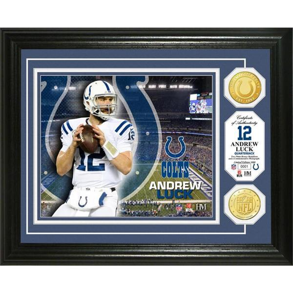 Andrew Luck Bronze Coin Photo Mint