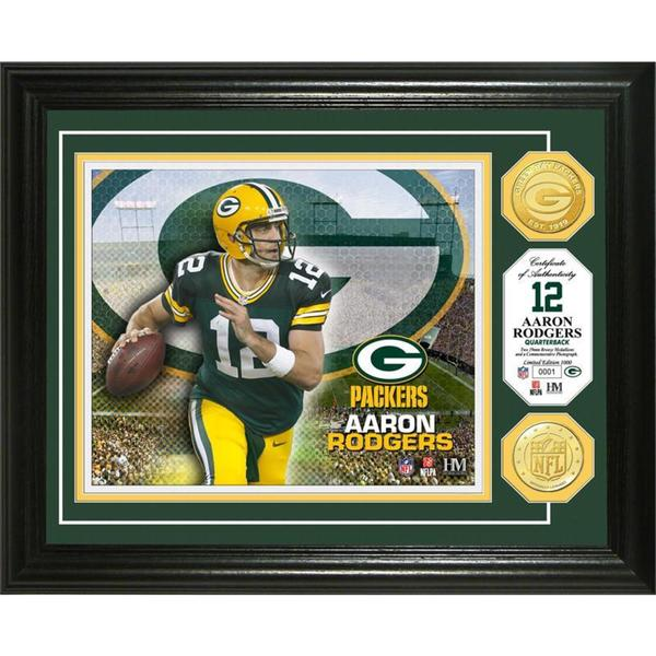 Aaron Rodgers Bronze Coin Photo Mint