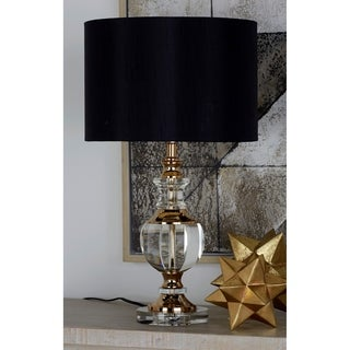 Metal Crystal 24-inch-high Round Lamp