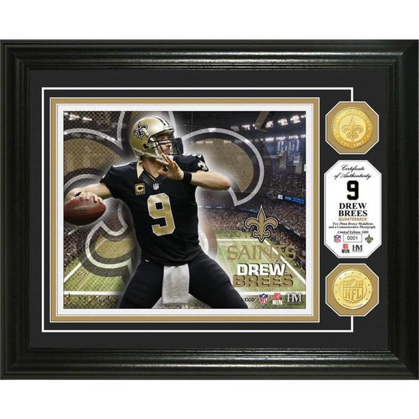 Drew Brees Bronze Coin Photo Mint