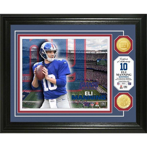Eli Manning Bronze Coin Photo Mint