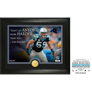 """Luke Keuchly """"Quote"""" Silver Coin Photo Mint"""
