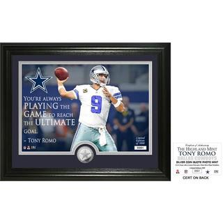 "Tony Romo ""Quote"" Silver Coin Photo Mint"