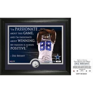 """Dez Bryant """"Quote"""" Silver Coin Photo Mint"""