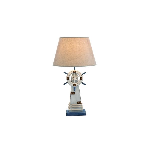 Wood Lighthouse Table Lamp