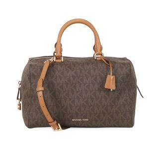 Michael Kors Signature Brown Large Kirby Satchel Handbag