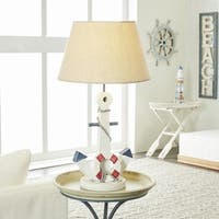 Wooden Anchor Table Lamp