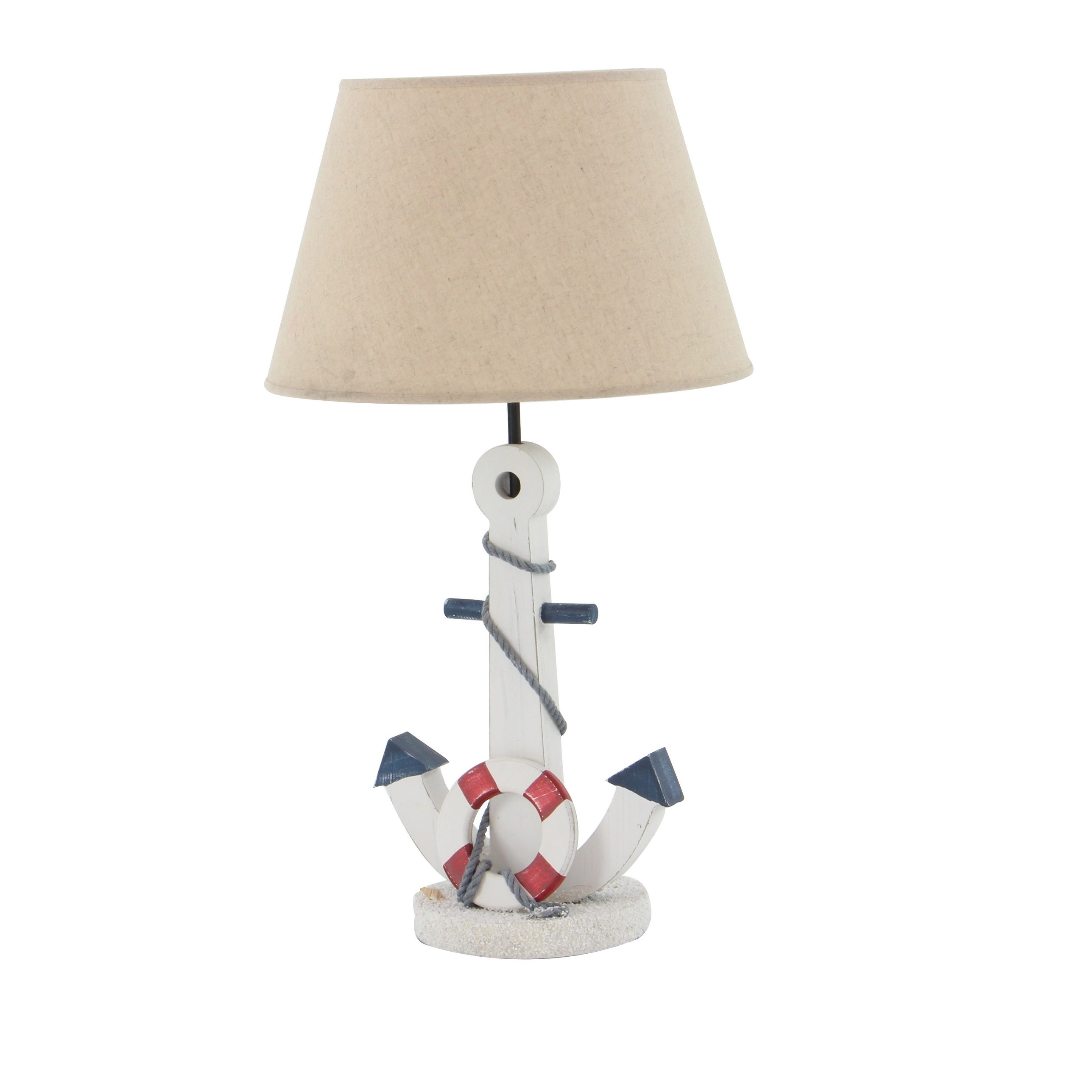 Shop Black Friday Deals On Wooden Anchor Table Lamp Overstock 12187493