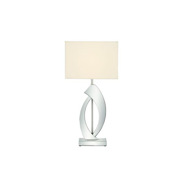 Wood 29-inch High Mirrored Table Lamp