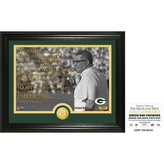 "Vince Lombardi ""Quote"" Bronze Coin Photo Mint"