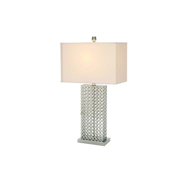 Chrome Metal 30-inch x 16-inch 1-light Table Lamp