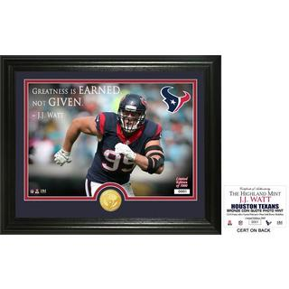 "J.J. Watt ""Quote"" Bronze Coin Photo Mint"