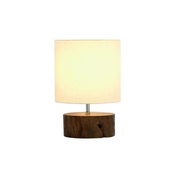 Mahogany 14-inch Log Lamp