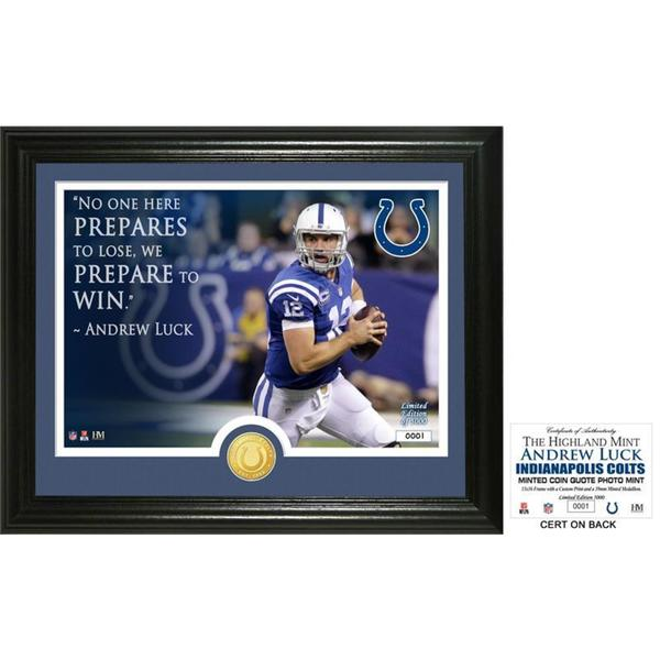 """Andrew Luck """"Quote"""" Silver Coin Photo Mint"""
