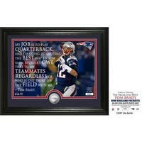 "Tom Brady ""Quote"" Silver Coin Photo Mint"