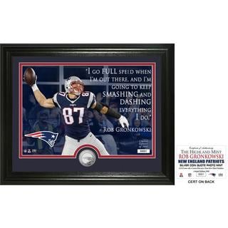 "Rob Gronkowski ""Quote"" Silver Coin Photo Mint"