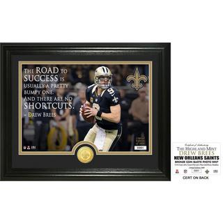 "Drew Brees ""Quote"" Bronze Coin Photo Mint"