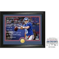 """Eli Manning """"Quote"""" Bronze Coin Photo Mint"""