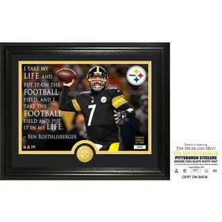 "Ben Roethlisberger ""Quote"" Bronze Coin Photo Mint"