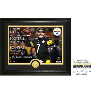 "Ben Roethlisberger ""Quote"" Bronze Coin Photo Mint - Multi-color"