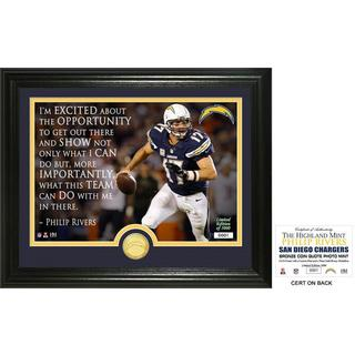 "Philip Rivers ""Quote"" Bronze Coin Photo Mint"