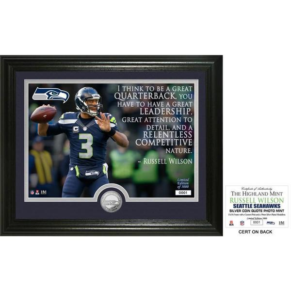 "Russell Wilson ""Quote"" Silver Coin Photo Mint"