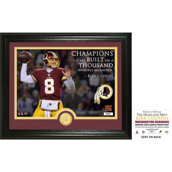 "Kirk Cousins ""Quote"" Bronze Coin Photo Mint"