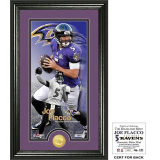 "Joe Flacco ""Supreme"" Bronze Coin Panoramic Photo Mint"