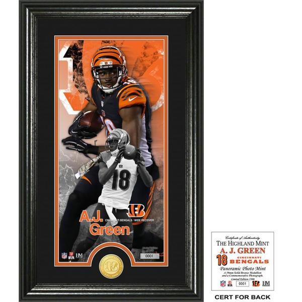 "AJ Green ""Supreme"" Bronze Coin Panoramic Photo Mint"