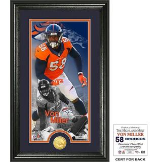 "Von Miller ""Supreme"" Bronze Coin Panoramic Photo Mint"