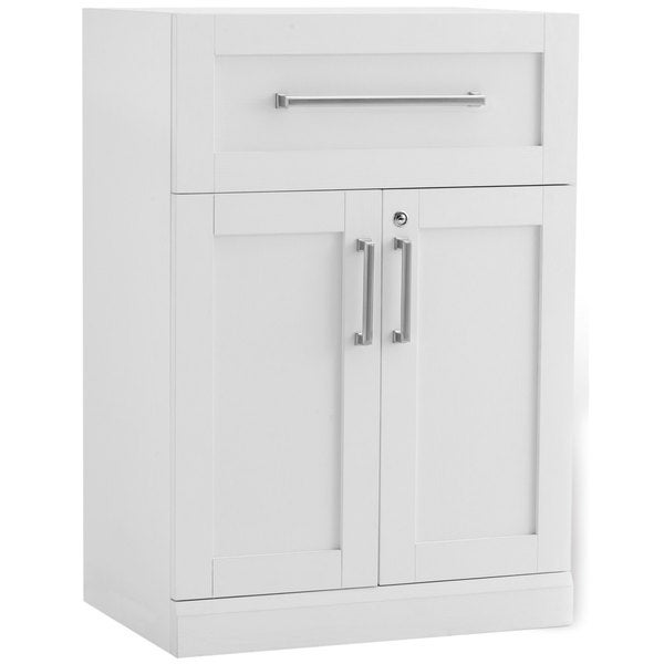 Newage products white shaker style 24 inch wide x 16 inch for 24 inch deep kitchen cabinets