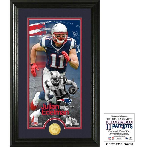 "Julian Edelman ""Supreme"" Bronze Coin Panoramic Photo Mint"
