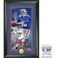 "Eli Manning ""Supreme"" Bronze Coin Panoramic Photo Mint"