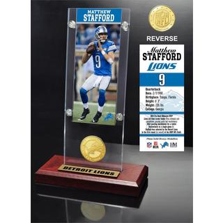 Matthew Stafford Ticket & Bronze Coin Ticket Acrylic