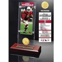 Larry Fitzgerald Ticket & Bronze Coin Ticket Acrylic
