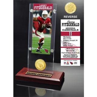 Larry Fitzgerald Ticket & Bronze Coin Ticket Acrylic - Multi-color
