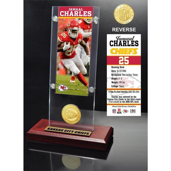 Jamaal Charles Ticket & Bronze Coin Ticket Acrylic