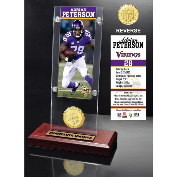 Adrian Peterson Ticket & Bronze Coin Ticket Acrylic