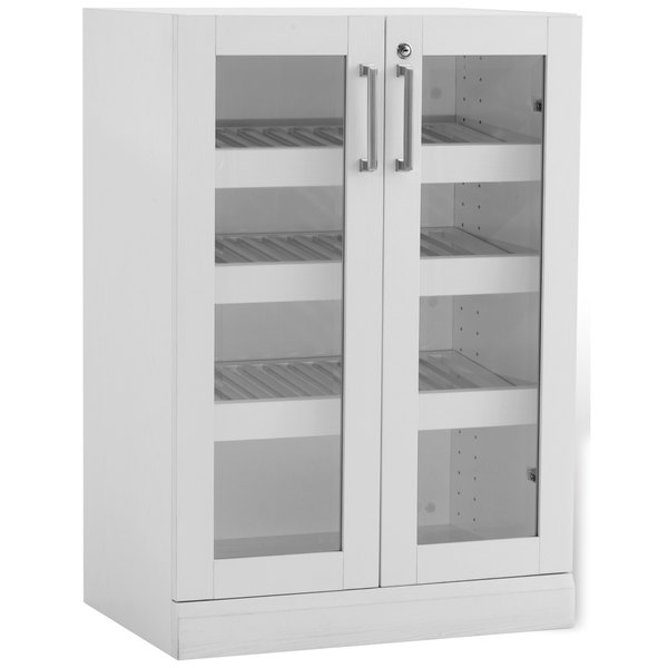 Newage products shaker style white 24 inch wide x 16 inch for Kitchen cabinets 16 inches deep