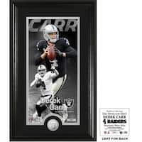 "Derek Carr ""Supreme"" Bronze Coin Panoramic Photo Mint"