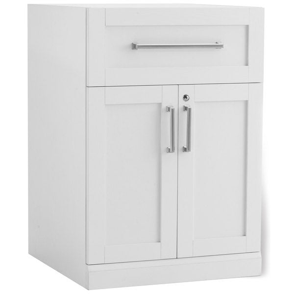 Newage products white 24 inch wide x 24 inch deep 2 door for Kitchen cabinets 24 inches deep