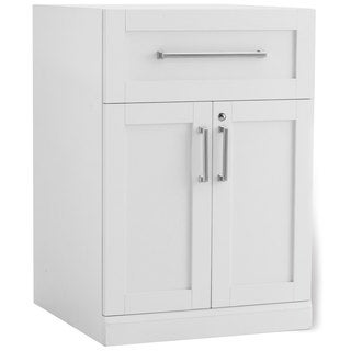 NewAge Products White 24-inch Wide x 24-inch Deep 2-door Cabinet Shaker-style Home Bar Cabinet